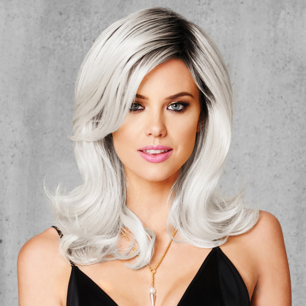 peruca white out wig